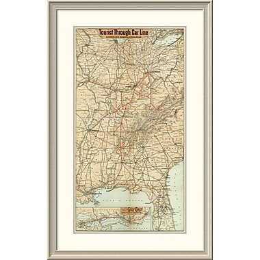 East Urban Home 'Tourist Through Car Line, Louisville & Nashville Railroad, 1890' Framed Print