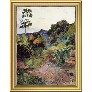 East Urban Home 'Tropical Vegetation' Framed Oil Painting Print; 14'' H x 11'' W