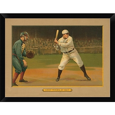 East Urban Home 'Chief Myers at Bat Baseball Card 1911' Framed Graphic Art Print; 12'' H x 16'' W