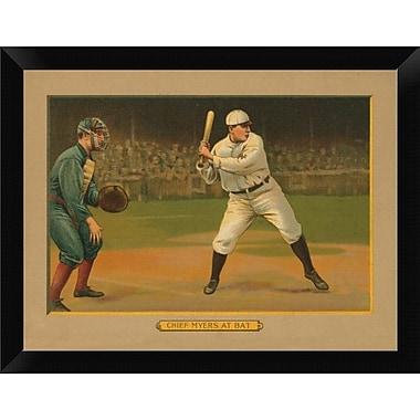 East Urban Home 'Chief Myers at Bat Baseball Card 1911' Framed Graphic Art Print; 9'' H x 12'' W