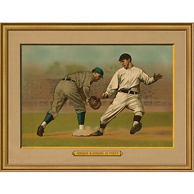 East Urban Home 'Jordan and Herzog at First' Framed Graphic Art Print; 12'' H x 16'' W