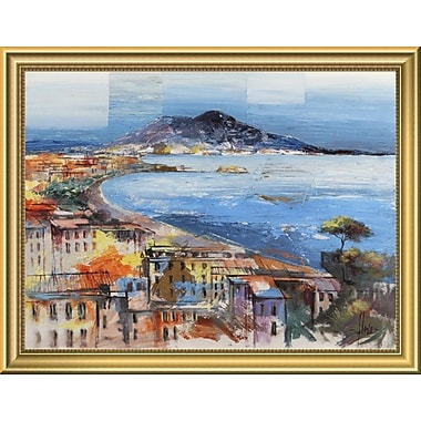 East Urban Home 'Dolce Napoli' Framed Oil Painting Print; 14'' H x 18'' W