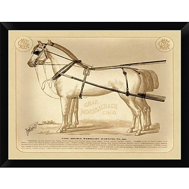 East Urban Home 'Saddles and Tack: Fine Double Barouche Harness' Framed Graphic Art Print
