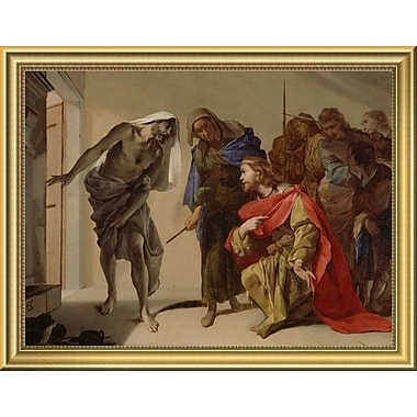 East Urban Home 'The Shade of Samuel Invoked by Saul' Framed Oil Painting Print; 14'' H x 18'' W