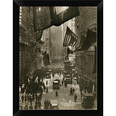 East Urban Home 'Wall Street Celebration as Germany Surrenders' Framed Photographic Print