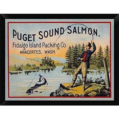 East Urban Home 'Puget Sound Salmon - On the Fly' Framed Graphic Art Print; 12'' H x 16'' W