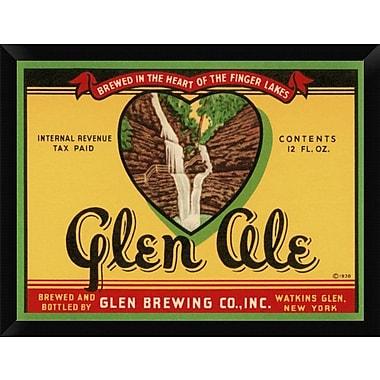East Urban Home 'Glen Ale' Framed Graphic Art Print; 12'' H x 16'' W