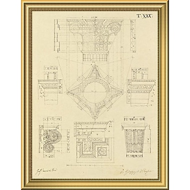 East Urban Home 'Plate 30 for Elements of Civil Architecture ca. 1818-1850' Framed Graphic Art Print