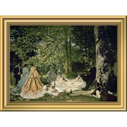 East Urban Home 'Luncheon on the Grass 1865-66' Framed Oil Painting Print; 10.52'' H x 14'' W