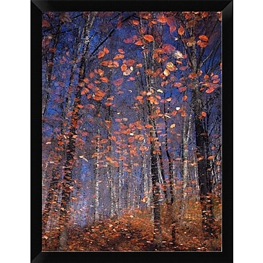 East Urban Home 'Autumn Leaves' Framed Painting Print; 18'' H x 14'' W