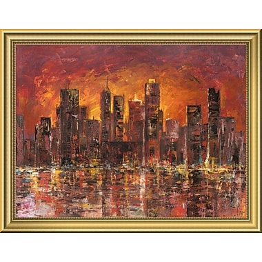 East Urban Home 'Sunset' Framed Oil Painting Print; 14'' H x 18'' W