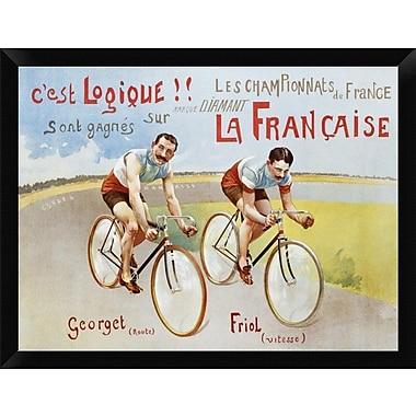 East Urban Home 'Cycles Diamant 1906' Framed Graphic Art Print; 12'' H x 16'' W