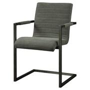 Williston Forge Barrigan Armchair; Grey
