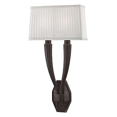 Astoria Grand Peyton 2-Light Wall Sconce; Old Bronze