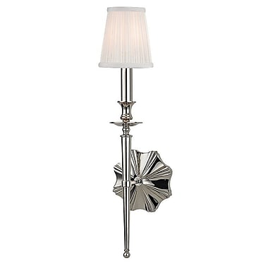 Astoria Grand Phoebe 1-Light Wall Sconce; Polished Nickel