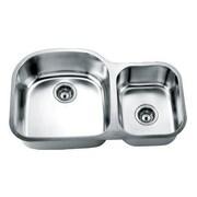 Daweier 33'' x 21'' Double Basin Undermount Kitchen Sink