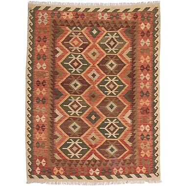 Loon Peak Olmsted Hand-Woven Copper Area Rug