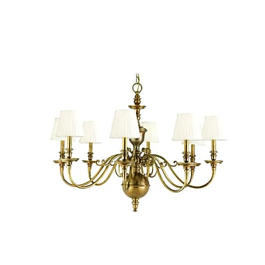 Astoria Grand Philbrook 8-Light Shaded Chandelier; Aged Brass