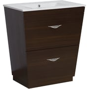 Brayden Studio Kao Floor Mount 21'' Single Bathroom Vanity Set; 4'' Centers