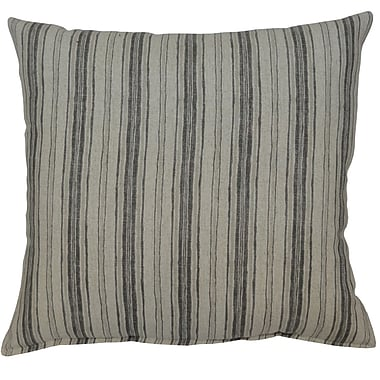 Breakwater Bay Kenzie 100pct Cotton Throw Pillow; Gray