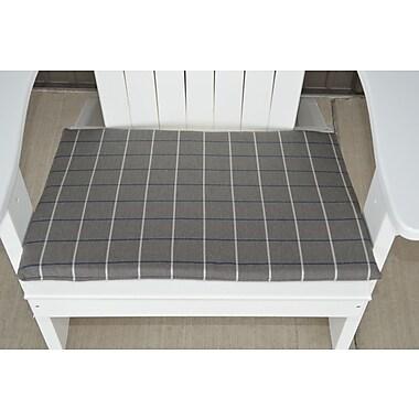 Charlton Home Striped Fabric Outdoor Adirondack Chair Cushion; Gray
