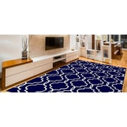 Charlton Home Larrabee Decorative Modern Contemporary Southwestern Navy Area Rug; 5' x 7'