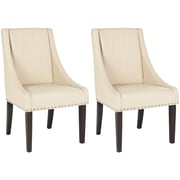 Darby Home Co Flossmoor Upholstered Dining Chair (Set of 2); Cream