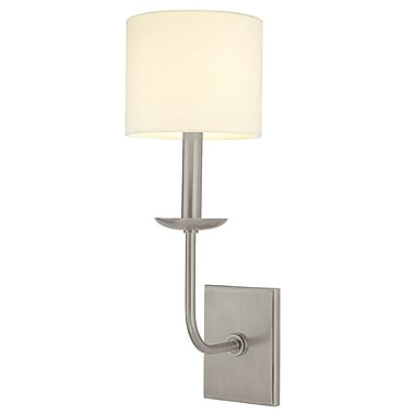 Corrigan Studio Darius 1-Light Wall Sconce; Antique Nickel