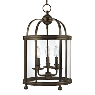 Darby Home Co Elyria 3-Light Foyer Pendant; Aged Brass