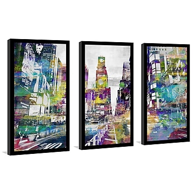 East Urban Home 'Times Square IV' Framed Graphic Art Print Multi-Piece Image on Glass
