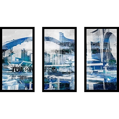 'Toronto Nathan Phillips Square II' Framed Graphic Art Print Multi-Piece Image on Glass