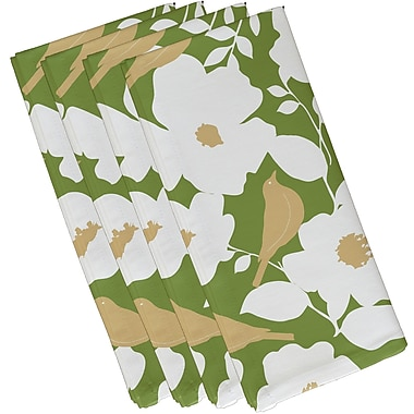 Darby Home Co Franca Modfloral Print Napkin (Set of 4); Green