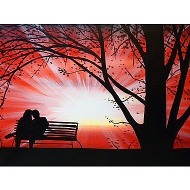 Ebern Designs 'First Date' Print on Wrapped Canvas; 12'' H x 16'' W