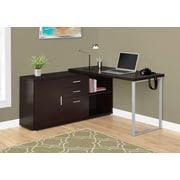 Latitude Run Dariell L-Shape Corner Desk; Cappuccino