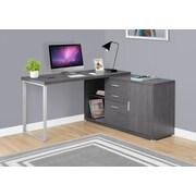 Latitude Run Dariell L-Shape Corner Desk; Gray