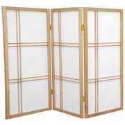 Mistana 35.75'' Boyer Screen 3 Panel Room Divider; Natural