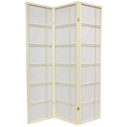 Mistana 70'' x 42'' Boyer 3 Panel Yellow Room Divider; Ivory