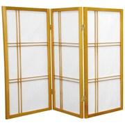 Mistana 35.75'' Boyer Screen 3 Panel Room Divider; Honey