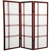 Mistana 48'' x 42'' Boyer 3 Panel Room Divider; Rosewood