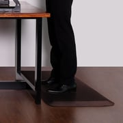 Latitude Run Delmore Standing Desk Kitchen Mat; Brown