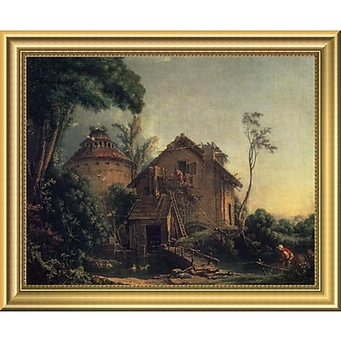 East Urban Home 'Country Home' Framed Oil Painting Print; 11.48'' H x 14'' W