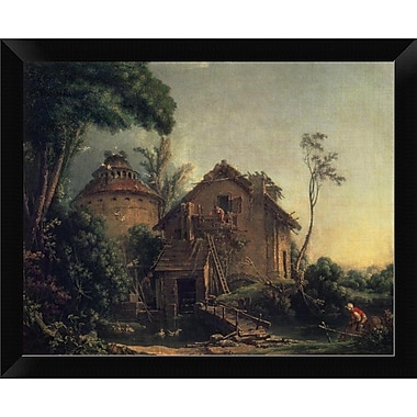 East Urban Home 'Country Home' Framed Oil Painting Print; 9.48'' H x 12'' W