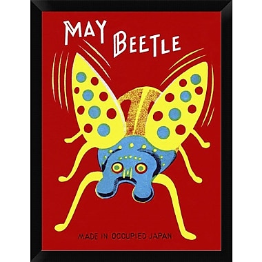 East Urban Home 'May Beetle' Framed Graphic Art Print; 16'' H x 12'' W