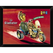 East Urban Home 'The Gladiator - Driver Included' Framed Graphic Art Print; 9'' H x 12'' W
