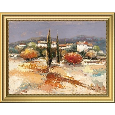 East Urban Home 'Borgo nel sole' Framed Oil Painting Print; 11'' H x 14'' W