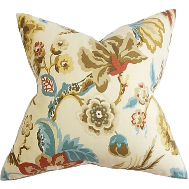 Red Barrel Studio Pearse Floral Throw Pillow Cover; Natural