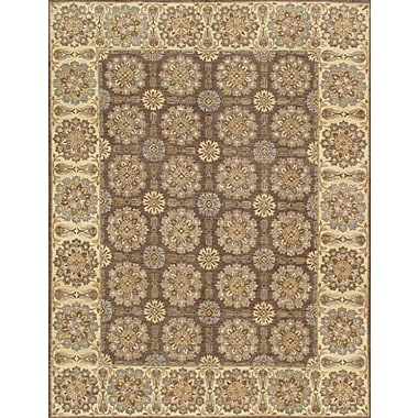 Pasargad Ferehan Hand Knotted Wool Brown/Ivory Area Rug