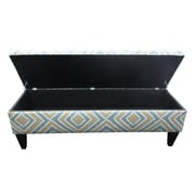 Red Barrel Studio Regis Fabric Storage Bedroom Bench; Nouvea Capri
