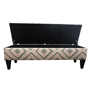 Red Barrel Studio Regis Fabric Storage Bedroom Bench; Nouvea Blush
