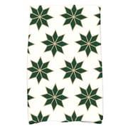 The Holiday Aisle Christmas Stars Cotton Hand Towel; Dark Green